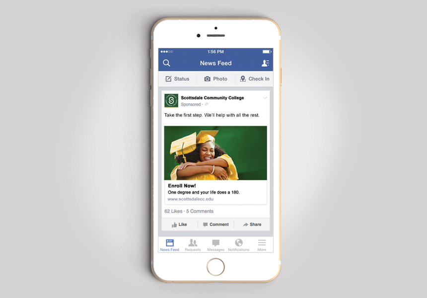 SCC-Facebook-Phone Scottsdale Community College